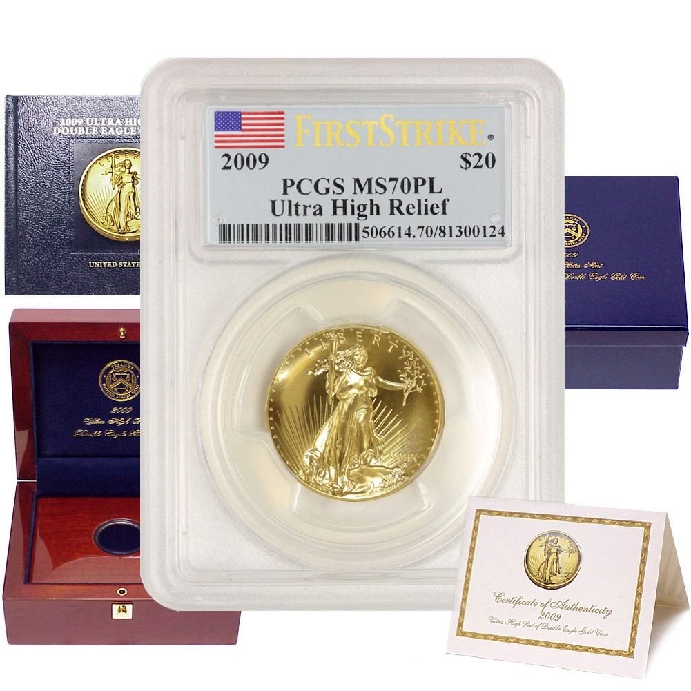 $20 Ultra High Relief Double Eagle 2009 PCGS MS70PL FS OGP