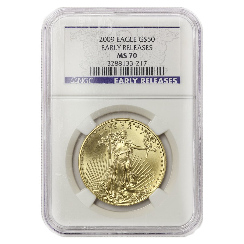 US $50 Gold Eagle 2009 NGC MS70 Early Releases- SKU: N3288133-217 Obverse