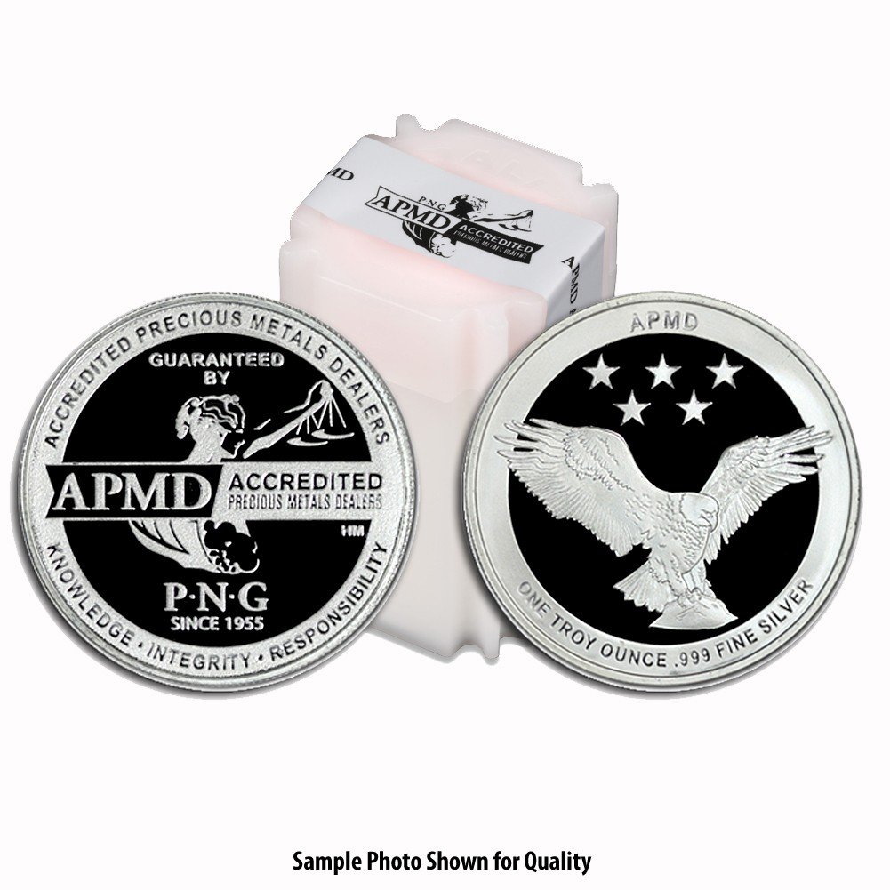 1oz APMD Silver Round Tube