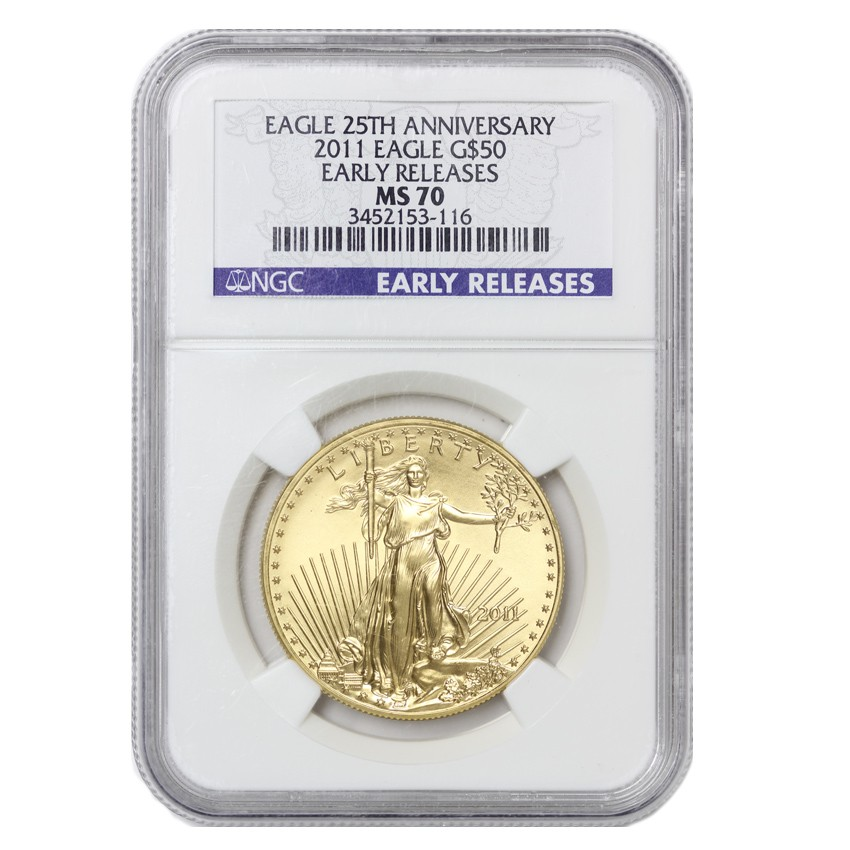 US $50 Gold Eagle 2011 NGC MS70