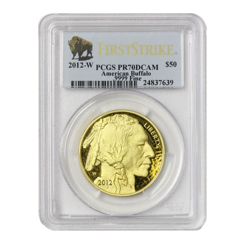 2012-W $50 Buffalo PCGS PR70DCAM First Strike