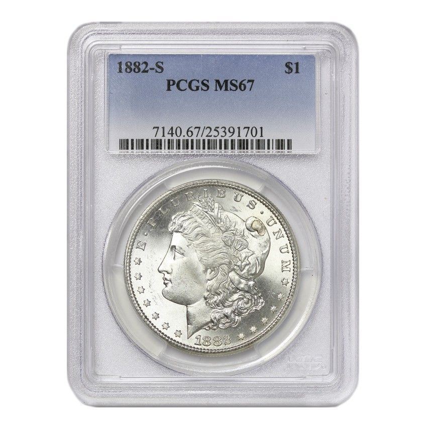 US S$1 Morgan 1882-S PCGS MS67
