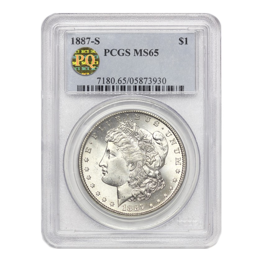 US S$1 Morgan 1887-S PCGS MS65 PQ