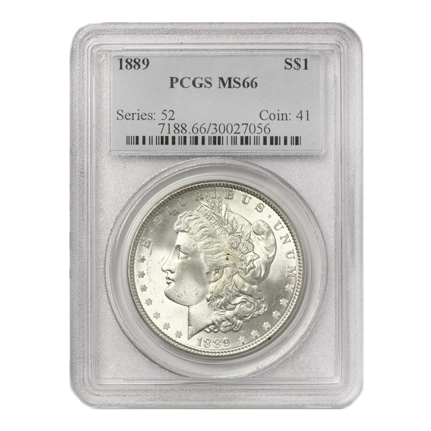 US S$1 Morgan 1889 PCGS MS66