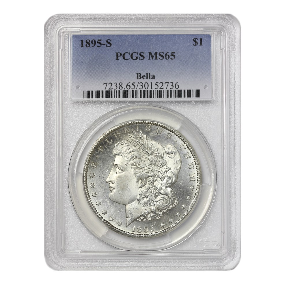 1895-S $1 Morgan PCGS MS65 Obverse