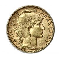 French Gold 20 Franc Rooster Pre-1933 AU (Random Year) Reverse
