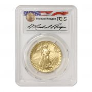1987 $50 Gold Eagle PCGS MS69 Reagan Obverse