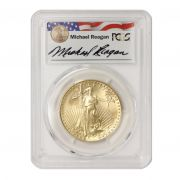 1988 $50 Gold Eagle PCGS MS69 Reagan Obverse
