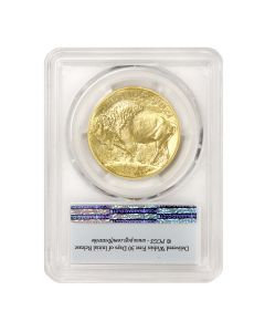 2018 $50 Gold Buffalo PCGS MS70 FS Flag Obverse