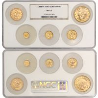 Set of 5 1852-1905 Gold Liberty Heads NGC MS63
